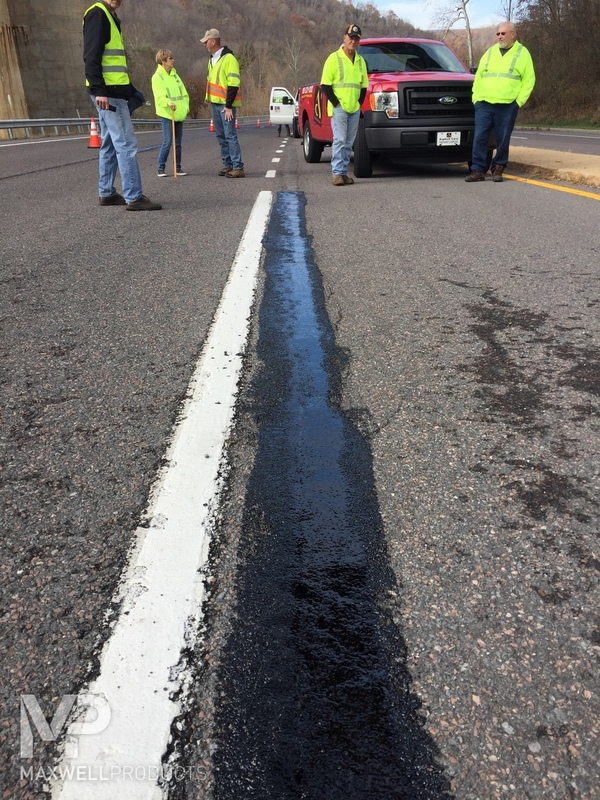 A road crew in Cumberland, Maryland admires their GAP Mastic repair.