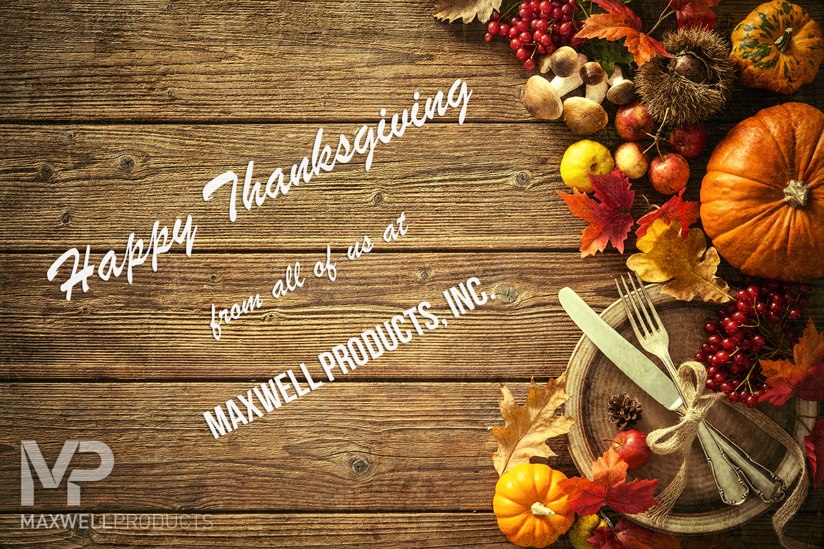 Maxwell Products Thanksgiving Greeting Card